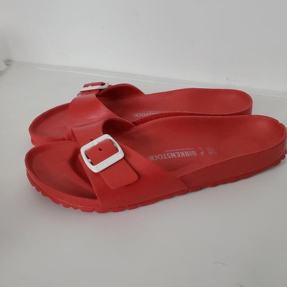 Birkenstocks Madrid Eva Rubber Sandal Red